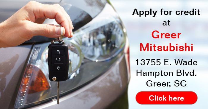 apply for a car loan at Greer Mitsubishi